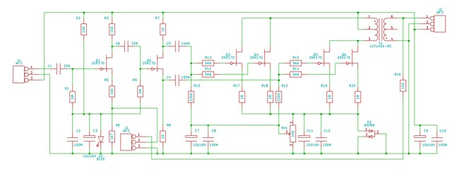 Fet power amplifier with transformer output