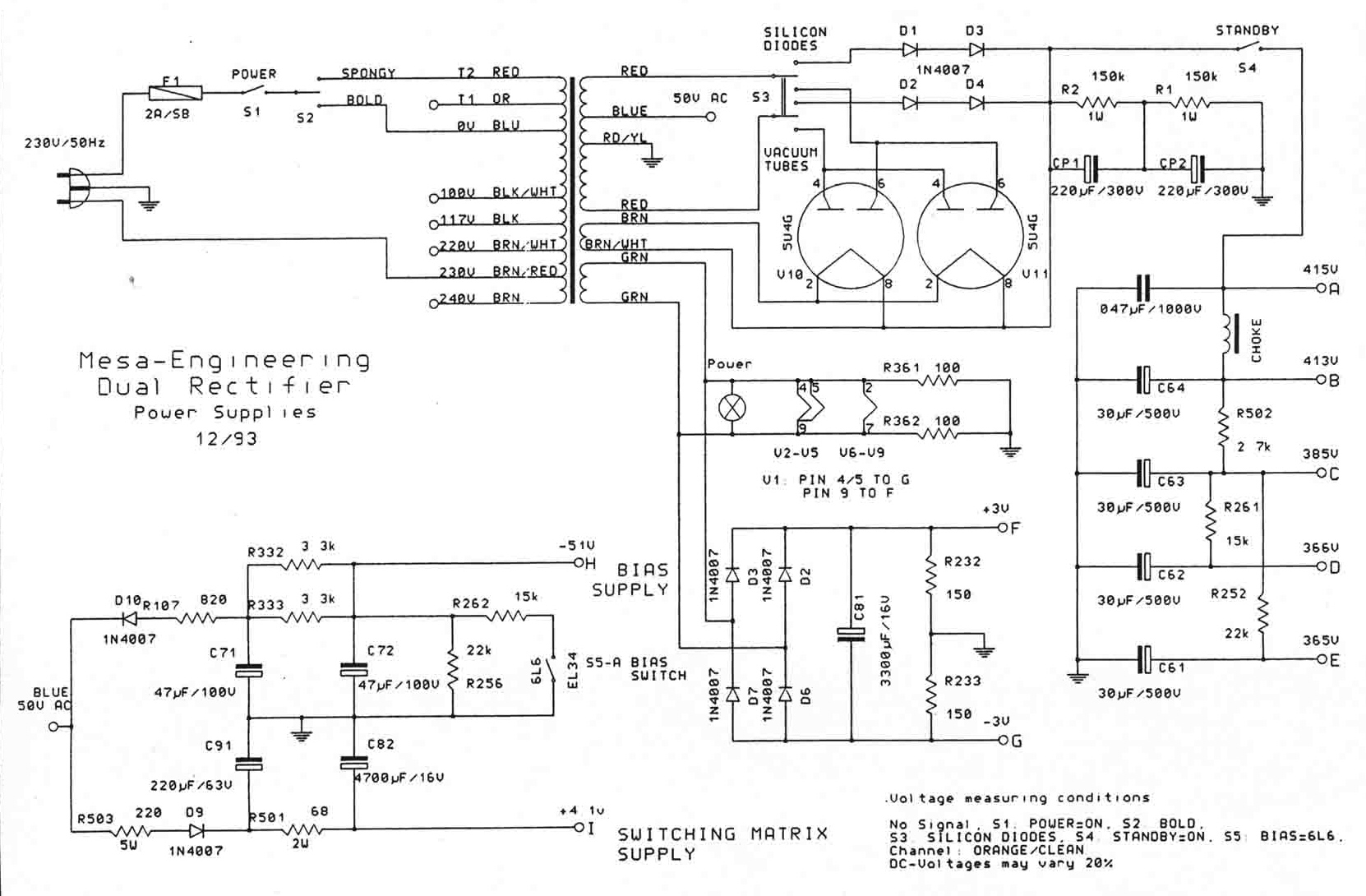 Mesa Boogie Dual Rectifier Schematic Pictures To Pin On Pinterest
